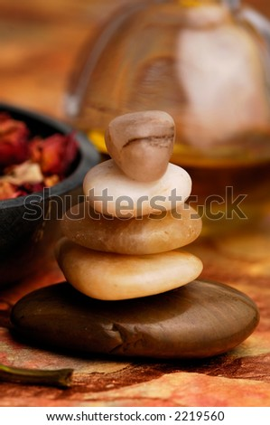 Stone Cairn - stock photo