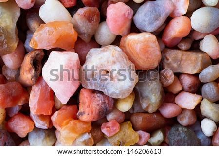 Stone Color gem opal ruby stone white agate round color pebble jewelry bright scheme quartz nature jasper calcite natural healing jewelry magical mineral crystal unakite tumbled precious spectrum  - stock photo