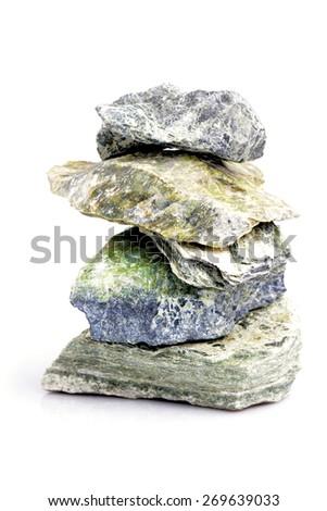 Stone construction isolated on white background - stock photo