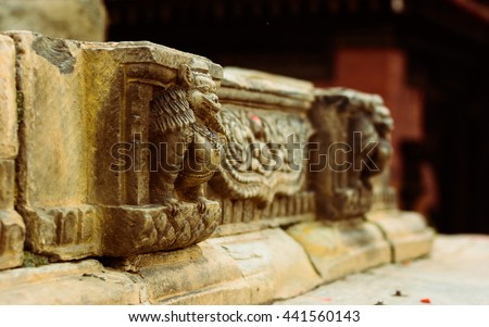 stone crafting in Nepal, Nepali art, Nepal, travel Nepal, visit Nepal, Art of Nepal, heritage of Nepal, ancient Nepal, Nepali culture - stock photo