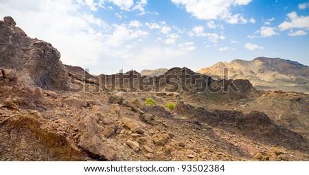 stone desert Rub' al Khali, UAE - stock photo