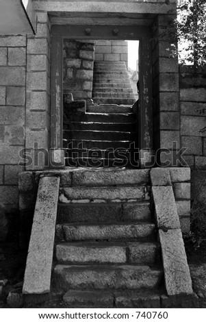 stone doorway - stock photo