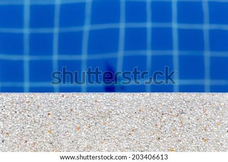 stone Edge of pool - stock photo