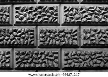 Stone Facade Detail - stock photo