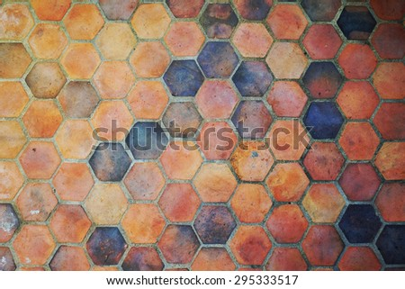 Stone floors in geometric pattern - stock photo