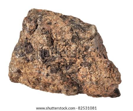 stone Granite,isolated on white - stock photo