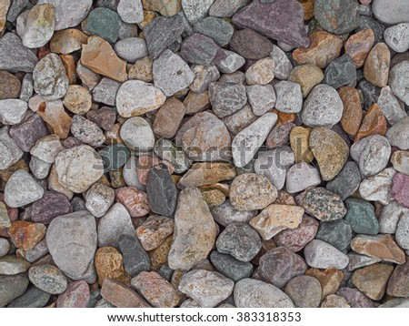 Stone gravel background, texture - stock photo