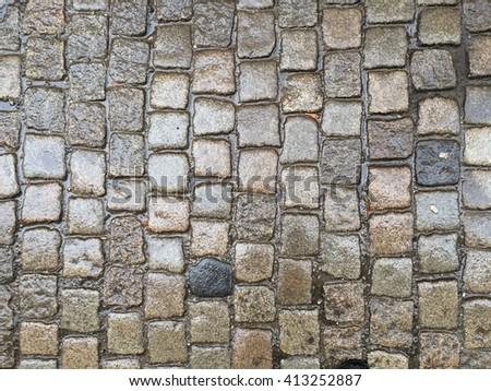 stone ground (background) - stock photo