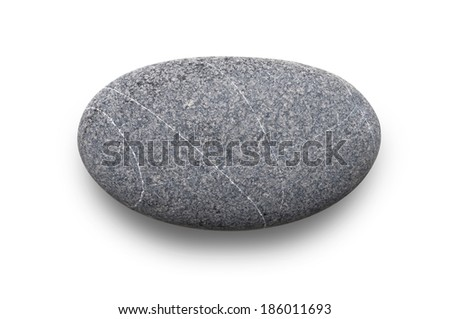 stone, isolated - stock photo