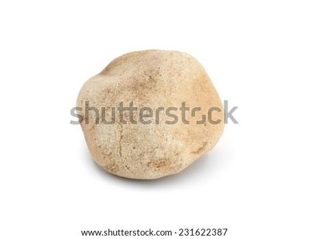 stone, isolated on white background - stock photo