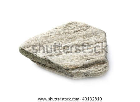 stone isolated on white background,(In my portfolio there are photos of stones) - stock photo