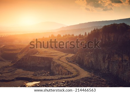 Stone mine - stock photo