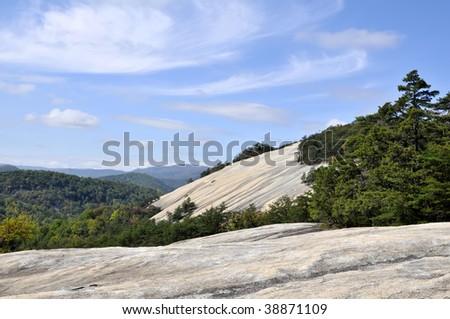 Stone Mountain, Stone Mountain State Park, North Carolina Horizontal - stock photo