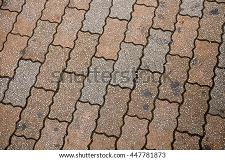 Stone pathway in the field.Grunge and retro style.    - stock photo