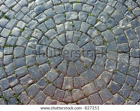 stone pavement - stock photo