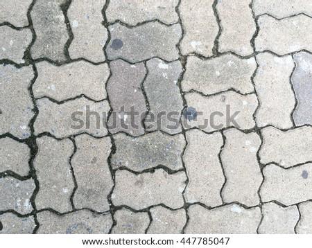 Stone paving tiles - stock photo