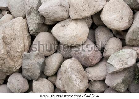 Stone pile - stock photo
