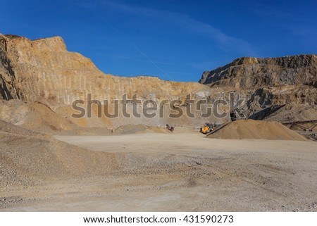 Stone quarry in Serbia - stock photo