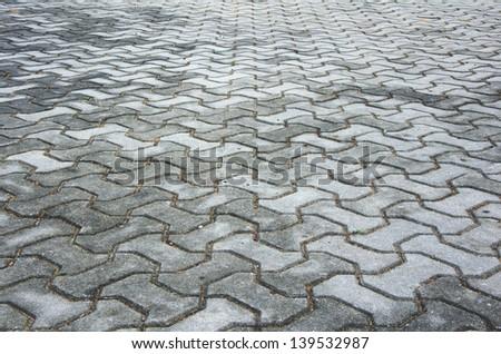 Stone roadway - stock photo