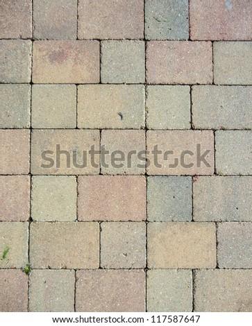 Stone roadway. Bricks. - stock photo