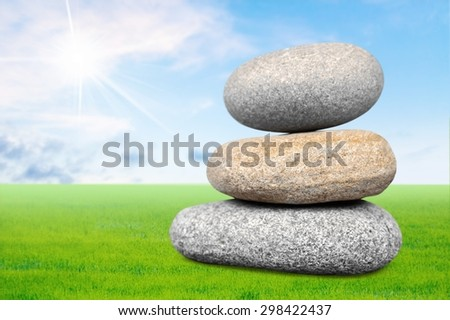 Stone, solid, pile. - stock photo