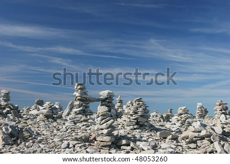 Stone Stack - stock photo