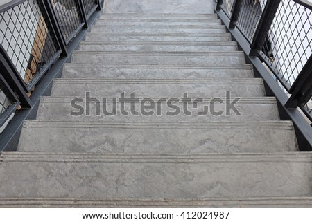 Stone stair at department store - stock photo