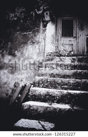 Stone staircase - stock photo
