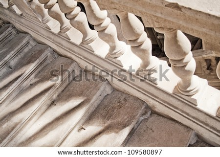 Stone stariway - stock photo