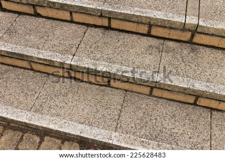 Stone step - stock photo