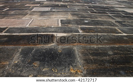 Stone texture of Charles bridge in Prague for different uses - stock photo