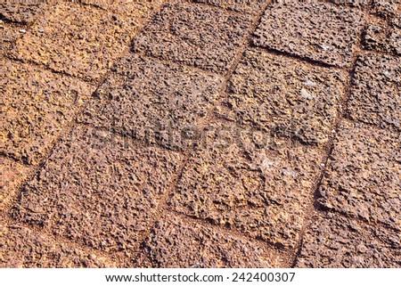 stone, texture or background, stone pavement - stock photo