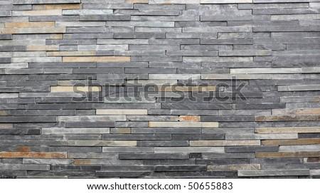 stone wall background - stock photo