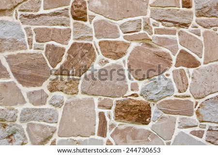 Stone Wall background texture - stock photo