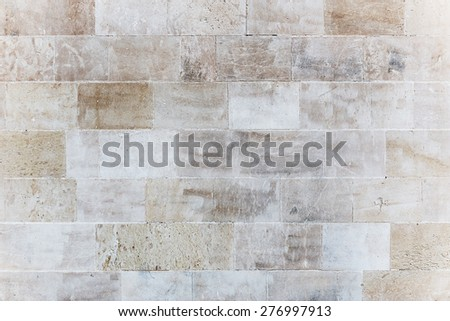 Stone wall closeup background photo texture - stock photo
