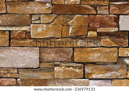 Stone wall in Eastern Corsica, France, Europe - stock photo