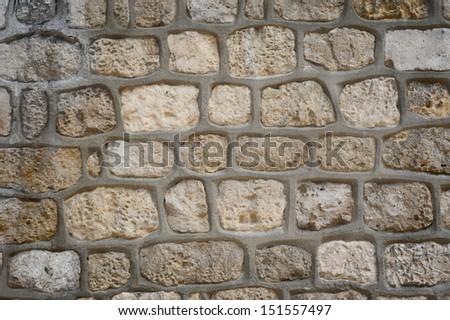 Stone wall in Paris - stock photo
