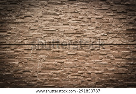 stone wall rustic texture brown background texture - stock photo