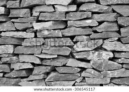 Stone wall texture - stock photo
