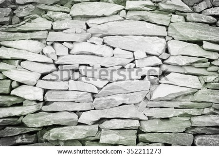 stone wall,The walls are made of stone grunge textures backgrounds - stock photo