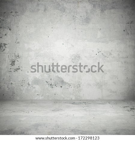 Stone wall view on street - stock photo