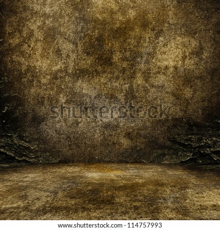 Stone walls on the ground level. - stock photo
