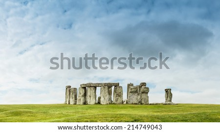 Stonehenge an ancient prehistoric stone monument near Salisbury - stock photo