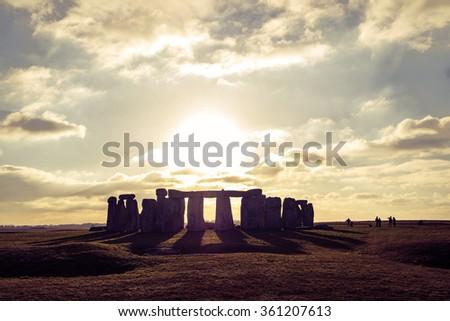 Stonehenge - England - stock photo