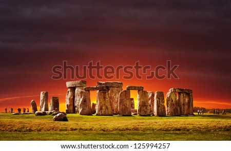 Stonehenge, England. UK - stock photo