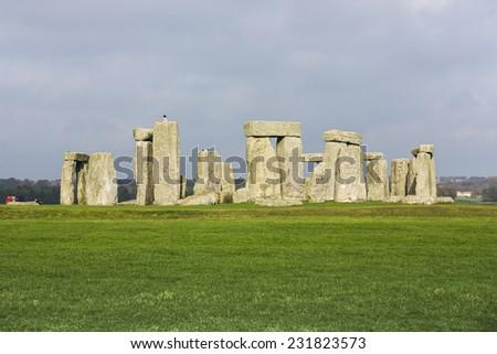 Stonehenge monument near Salisbury, UK. - stock photo