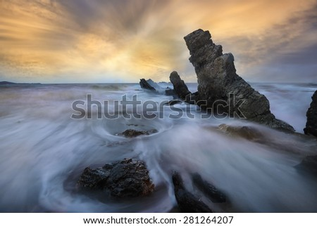 Stonehenge ripple. - stock photo