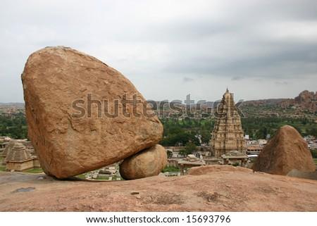 stones from Hampi - stock photo