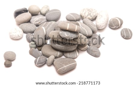 stones isolated on a white background - stock photo