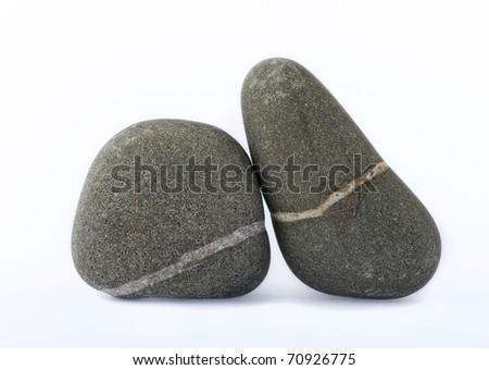stones isolated on white - stock photo